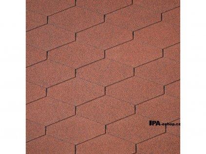 IKO Diamant PLUS asfaltový šindel 10 - Cihlově červená