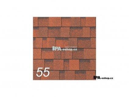 IKO Cambridge Xpress asfaltový šindel 55 - Rivera Red (3,1 m2/bal)