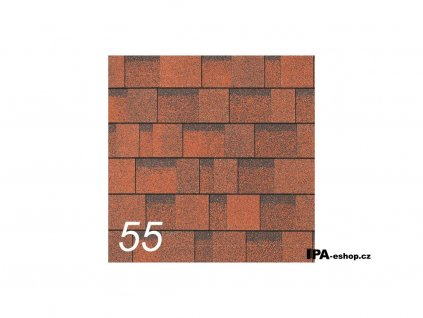 IKO Cambridge Xtreme asfaltový šindel 55 - Rivera Red (3,1 m2/bal)