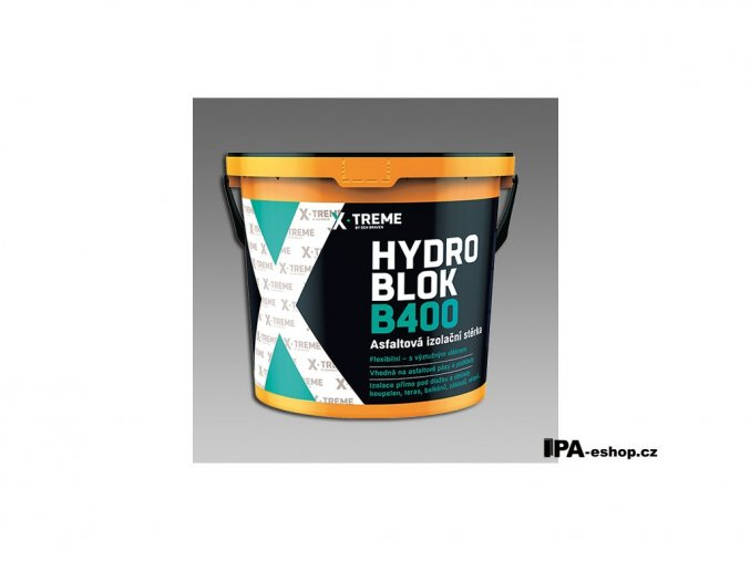 DenBit HYDRO BLOK B400 Asfaltová izolační stěrka, 10 kg/bal.