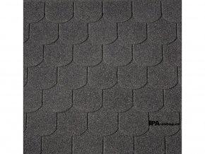 IKO Superglass Biber asfaltový šindel 02 - Třpytivě černá