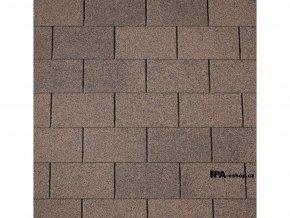 IKO Monarch asfaltový šindel 07 - Podvojně hnědá