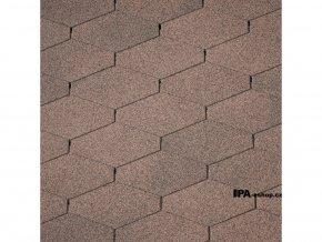 IKO Diamant PLUS asfaltový šindel 07 - Podvojně hnědá