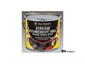 DenBit AQUA STOP Střešní bitumenový tmel, 3 kg/bal.